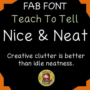 FONT FOR COMMERCIAL USE  - HANDWRITING FONT NICE & NEAT