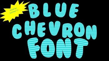 FONTS - Aqua Blue Chevron Font