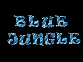 FONTS - Blue Rainbow Jungle for personal and commercial use