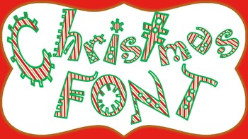 FONTS - Candy Cane Holiday  Lettering - Personal and Comme