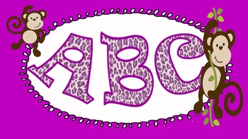 FONTS - Fun Purple Leopard Lettering - Personal and Commer
