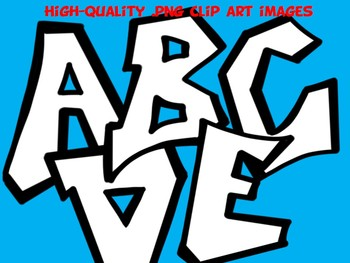 FONTS - Graffiti Style - Hand Illustrated Font - Personal