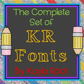 FONTS - *Growing* Complete Set of KR Fonts (Commercial & P