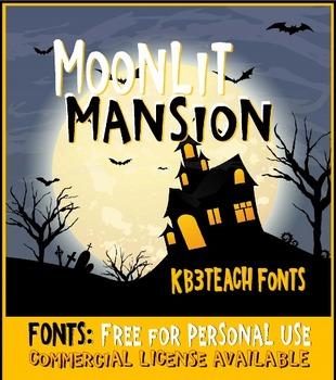 FREE FONTS: KB3 Moonlit Mansion (Personal Use)
