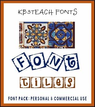 FONTS: KB3 Mosaique Font Tiles 3-Font Set (Commercial & Pe
