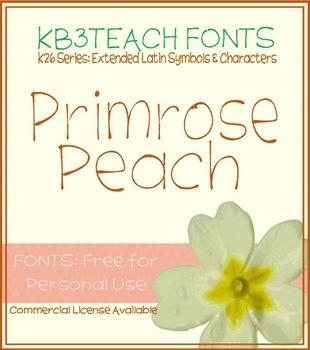 FREE FONTS: KB3 Primrose Peach (Personal Use: K26 Series)