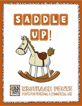FONTS: KB3 Saddle Up! 5-Font Set (Personal & Commercial Use)