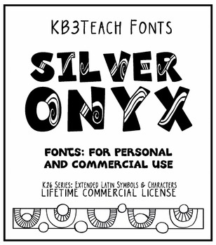 FONTS: KB3 Silver Onyx (Personal & Commercial Use: K26 Series)