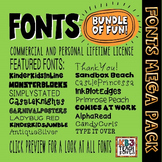 FONTS MEGA PACK 190+ Fonts (All KB3Teach Fonts)
