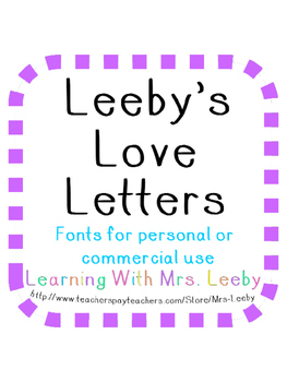 FONTS for personal and commercial use - Leeby's Love Letters