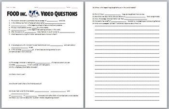 FOOD Inc. Video Worksheet