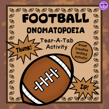 FOOTBALL Onomatopoeia Tear-A-Tab Activity