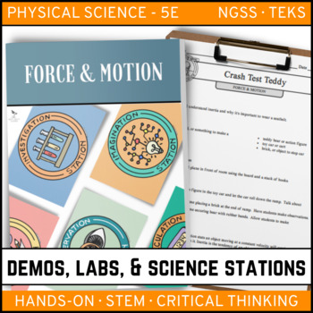 FORCE AND MOTION - Demos, Lab and Science Stations