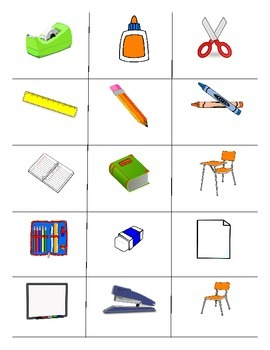 Classroom Objects FOREIGN LANGUAGE Workbook&Games package