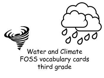 FOSS/AMSTI 3rd grade vocabulary word wall cards - Water an