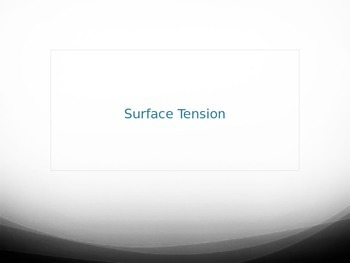 FOSS - Water - Surface Tension PowerPoint