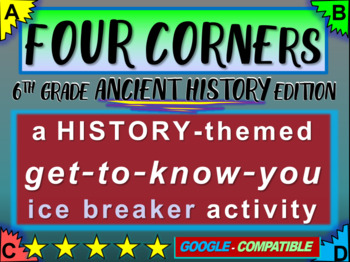 """""""FOUR CORNERS"""" Get-to-know-you game - ice breaker for 6th"""