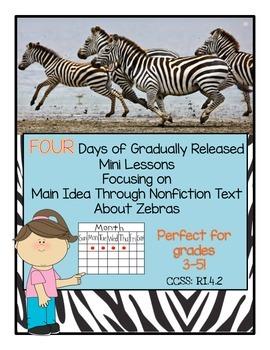 FOUR Mini Lessons on Main Idea and Details Using Nonfictio