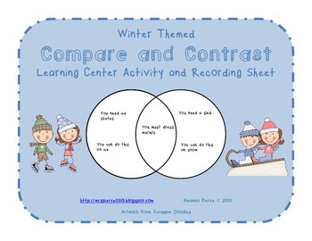 Compare and Contrast Center Activities - Winter (4 SETS)