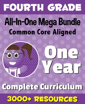 FOURTH GRADE All-In-One *MEGA BUNDLE* {1 Year Complete Cur