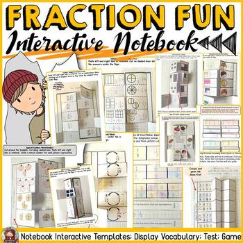 FRACTIONS: INTERACTIVE NOTEBOOK COMMON CORE ALIGNED}