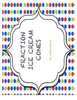 FRACTION ICE CREAM CONES!
