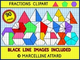 FRACTIONS CLIPART: TRIANGLE FRACTIONS, PENTAGON FRACTIONS