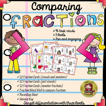 FRACTIONS: COMPARING FRACTIONS {DIFFERENTIATED TASK CARDS}