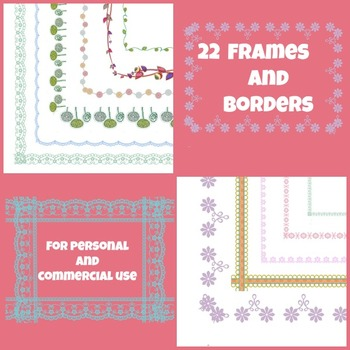FRAMES AND BORDERS For Personal and Commercial Use Clip art