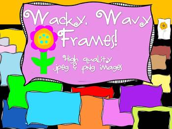 FRAMES - Wacky & Wavy Text Frames! - Personal & Commercial use