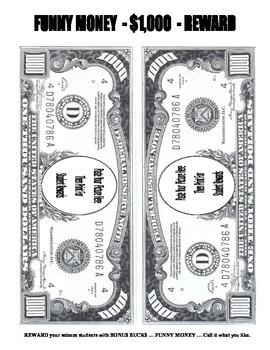 FREE $1000   FUNNY MONEY    REWARDS