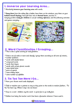 FREE 101 Fun and Educational Vocabulary / Word Card Activities