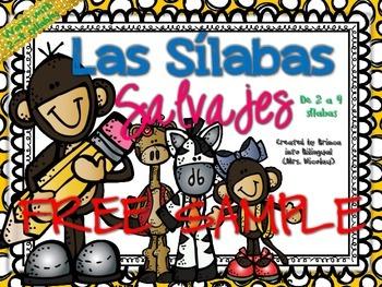 FREE 2-4 Syllables SAMPLE in SPANISH - GRATIS Unidad de 2-