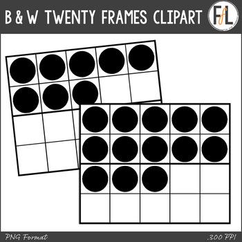 B & W Twenty Frames Clipart
