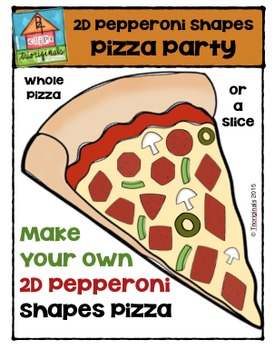 FREE 2D Pepperoni Shapes Pizza Party {P4 Clips Trioriginal