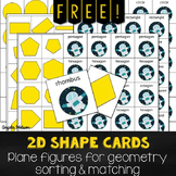 FREE 2D Shape Cards for sorting, matching, and other geome