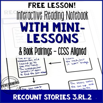 FREE 3rd Grade Reading Interactive Notebook with Mentor Te