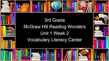 FREE! 3rd Grade Reading Wonders Unit 1 Week 2 Vocabulary T