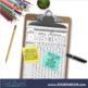 FREE 4TH GRADE Homework Morning Work for MATH - BACK TO SC