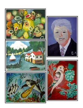 **FREE**  5 Senses: Blind Artist Art Picture Cards & Lesso