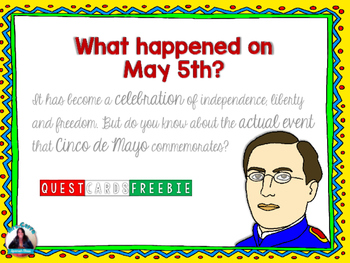 FREE 5 de Mayo QUEST CARDS(What really happened on May 5th