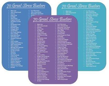 FREE!!  70 Great Stress Busters