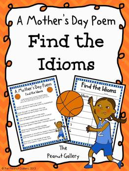 (FREE) A Mother's Day Poem: Find the Idioms