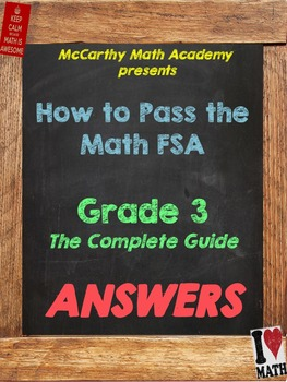 FREE ANSWER KEY!! How to Pass the Math FSA - Grade 3 - The