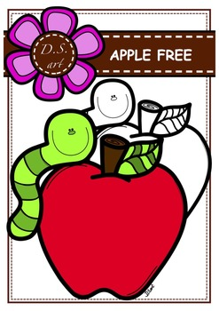 FREE APPLE Clipart (color and black&white)