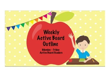 FREE Active Board Weekly Outline Headers