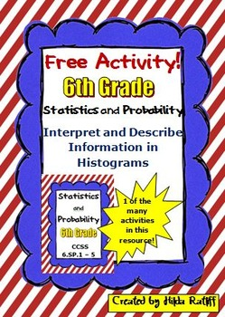 FREE Activity!! Histograms - 6th Grade Math - Statistics