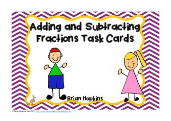 FREE Adding and Subtracting Fractions With Unlike Denomina