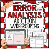 FREE Addition Regrouping Error Analysis  { Center, Enrichm