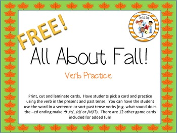FREE! All About Fall - Regular Verbs Practice